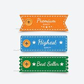 Clothing labels. Vector