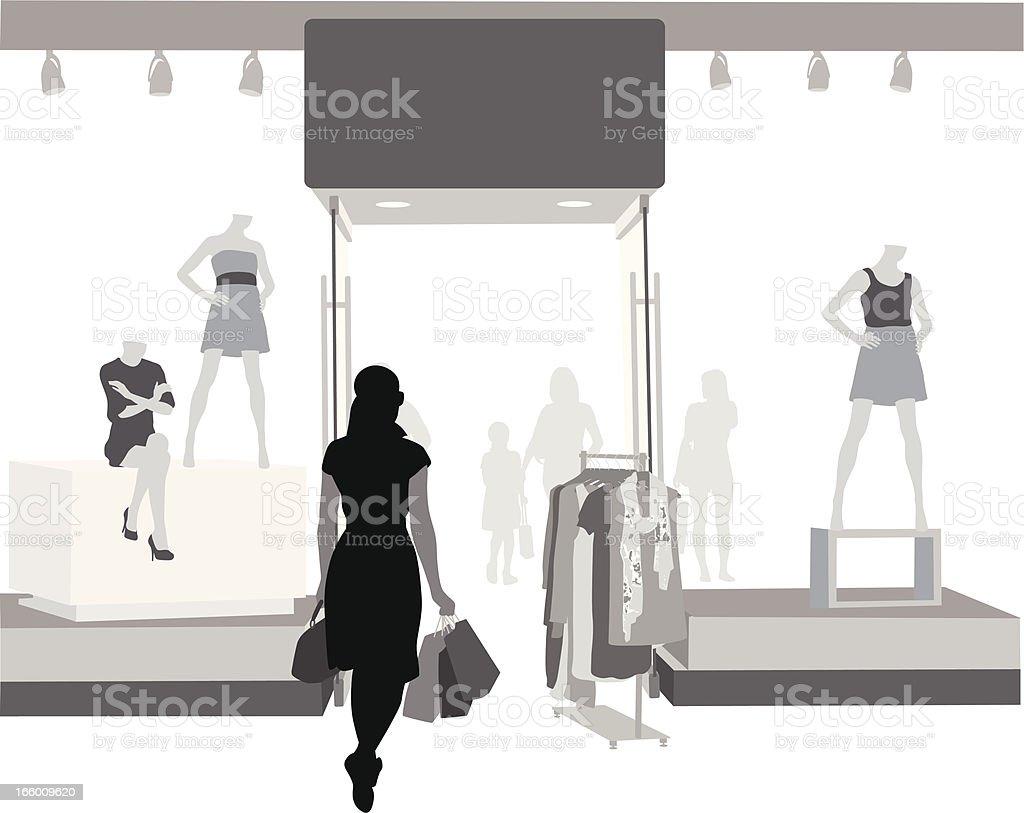 Clothing Sale vector art illustration