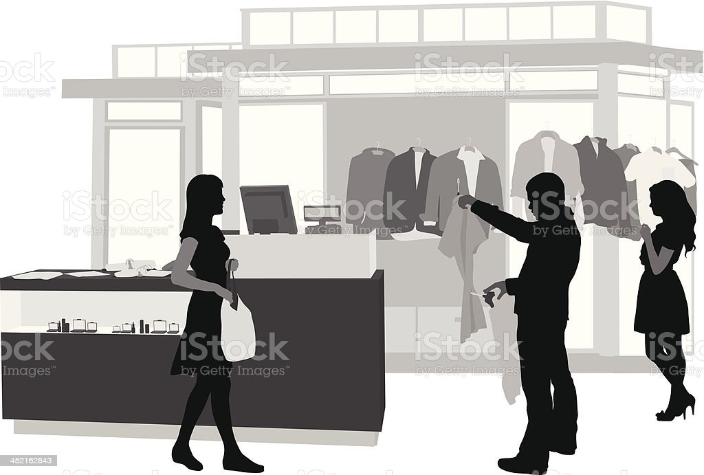Clothing Sales royalty-free clothing sales stock vector art & more images of black color