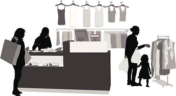 clothingsales - 小売販売員点のイラスト素材/クリップアート素材/マンガ素材/アイコン素材