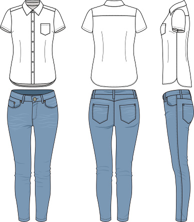 Clothing set. Shirt, jeans.