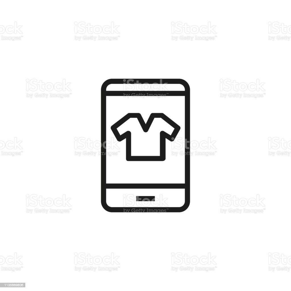 Clothing Shop Line Icon Stock Vector Art & More Images of