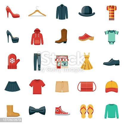 Clothing Store Icon Set