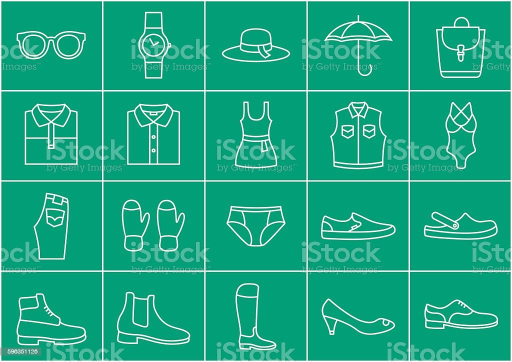 Clothing store icons set Lizenzfreies clothing store icons set stock vektor art und mehr bilder von accessoires