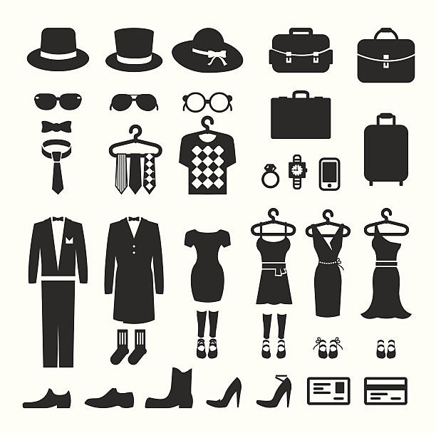 Clothing Store shopping Icon vector Clothing Store shopping Icon vector tuxedo stock illustrations