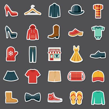 Clothing Store Sticker Set
