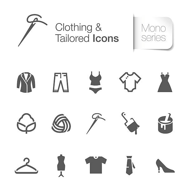 clothing & tailored related icon clothing & tailored related icons. The file contain transparency eps10.http://i1286.photobucket.com/albums/a602/Tsukiyo3/mono_zps6593c664.jpg silk screen stock illustrations