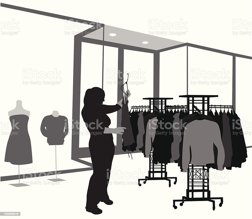 Clothing Vector Silhouette royalty-free stock vector art