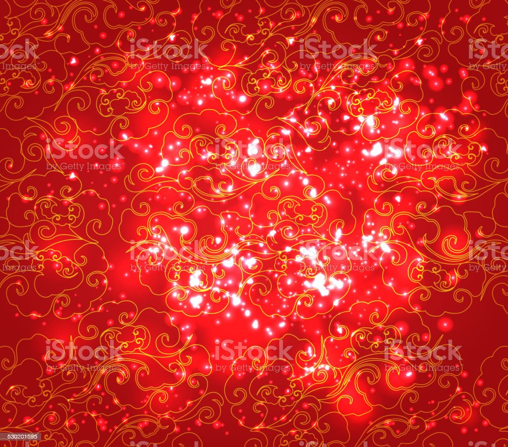 Cloud Abstract Chinese New Year Background Royalty Free Stock