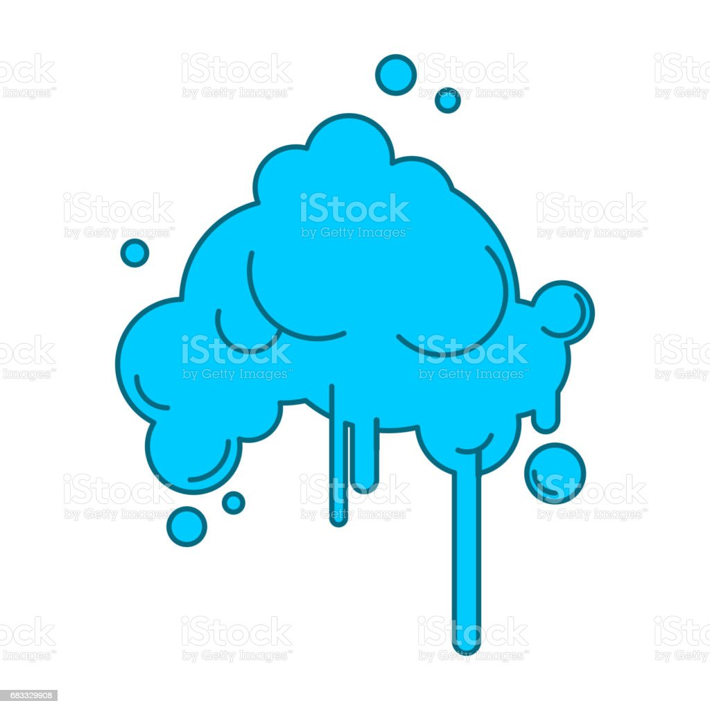 Cloud Abstract with rain isolated on white background cloud abstract with rain isolated on white background - immagini vettoriali stock e altre immagini di ambiente royalty-free