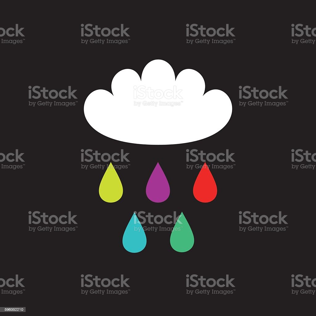 Cloud and color raindrops royalty-free cloud and color raindrops stock vector art & more images of aspirations