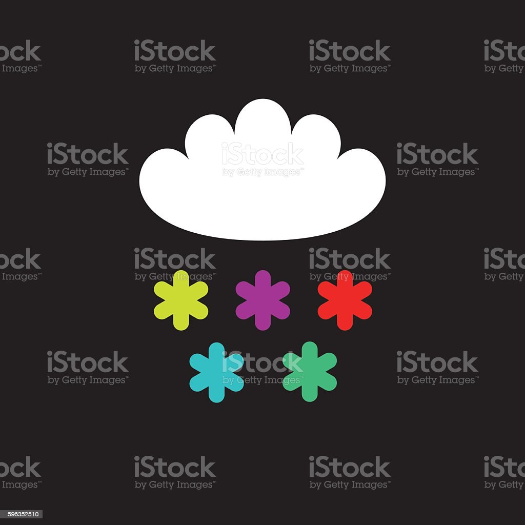 Cloud and color snowflakes royalty-free cloud and color snowflakes stock vector art & more images of aspirations