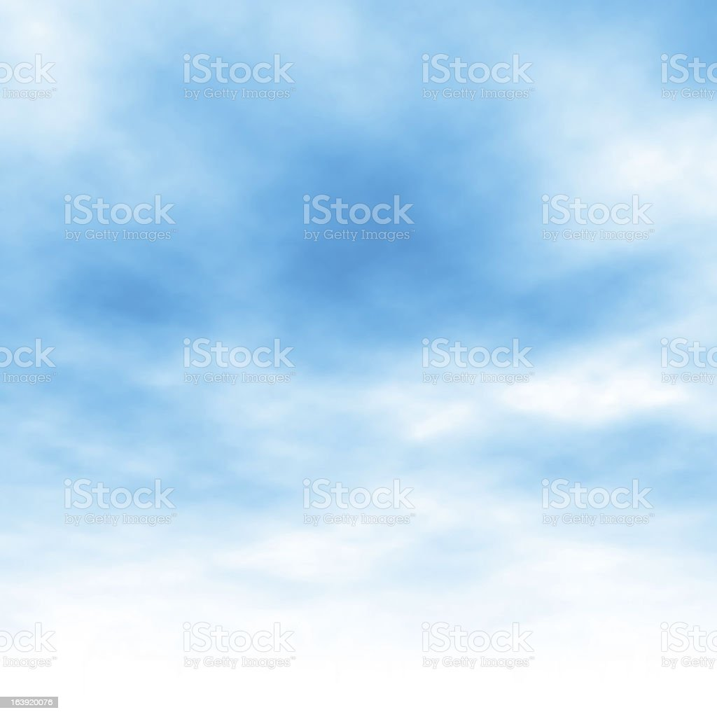 Cloud background vector art illustration
