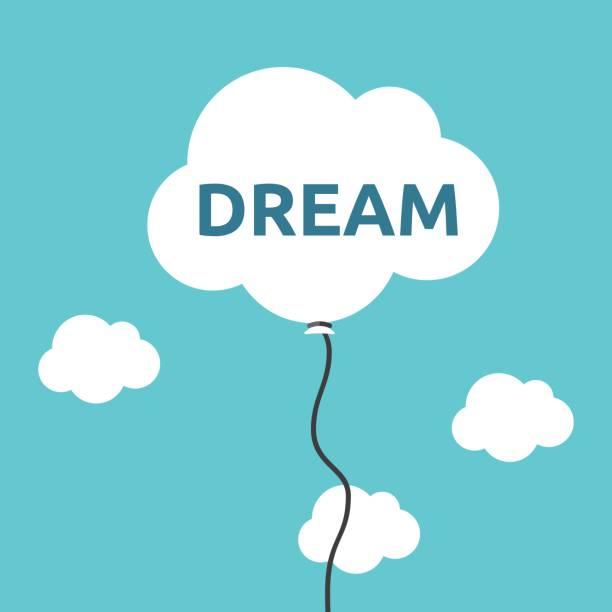 illustrazioni stock, clip art, cartoni animati e icone di tendenza di cloud balloon, dream concept - dream