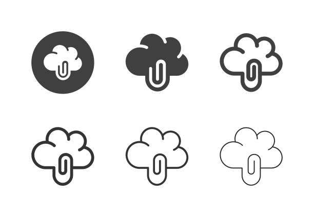 Cloud Business Office Icons - Multi Series vector art illustration