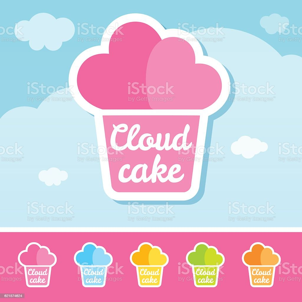 Cloud Cake Logo cloud cake logo – cliparts vectoriels et plus d'images de aliment libre de droits