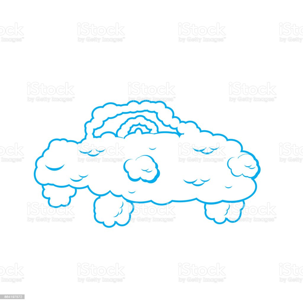 Cloud car isolated. auto from clouds. Heavenly transport. Vector illustration royalty-free cloud car isolated auto from clouds heavenly transport vector illustration stock vector art & more images of adult