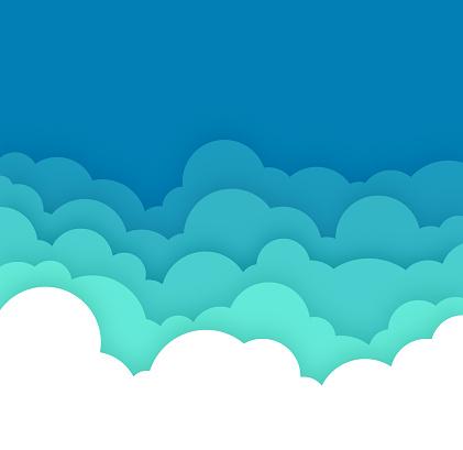 Cloud Cloudscape Blue Layers Background