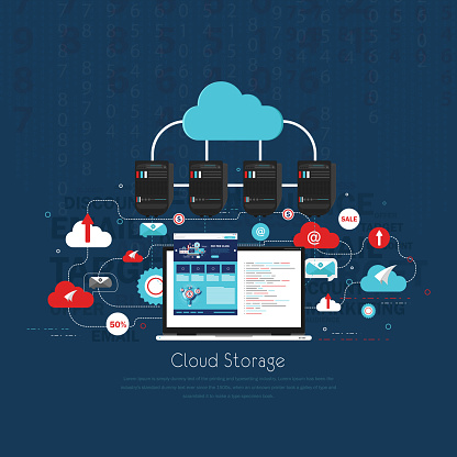 Cloud Communication stock illustration