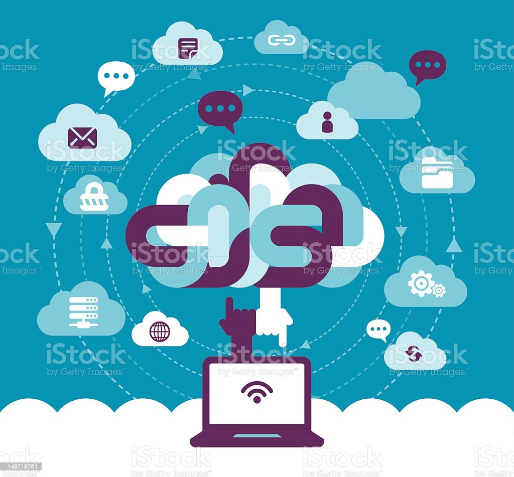 Cloud Communication royalty-free stock vector art