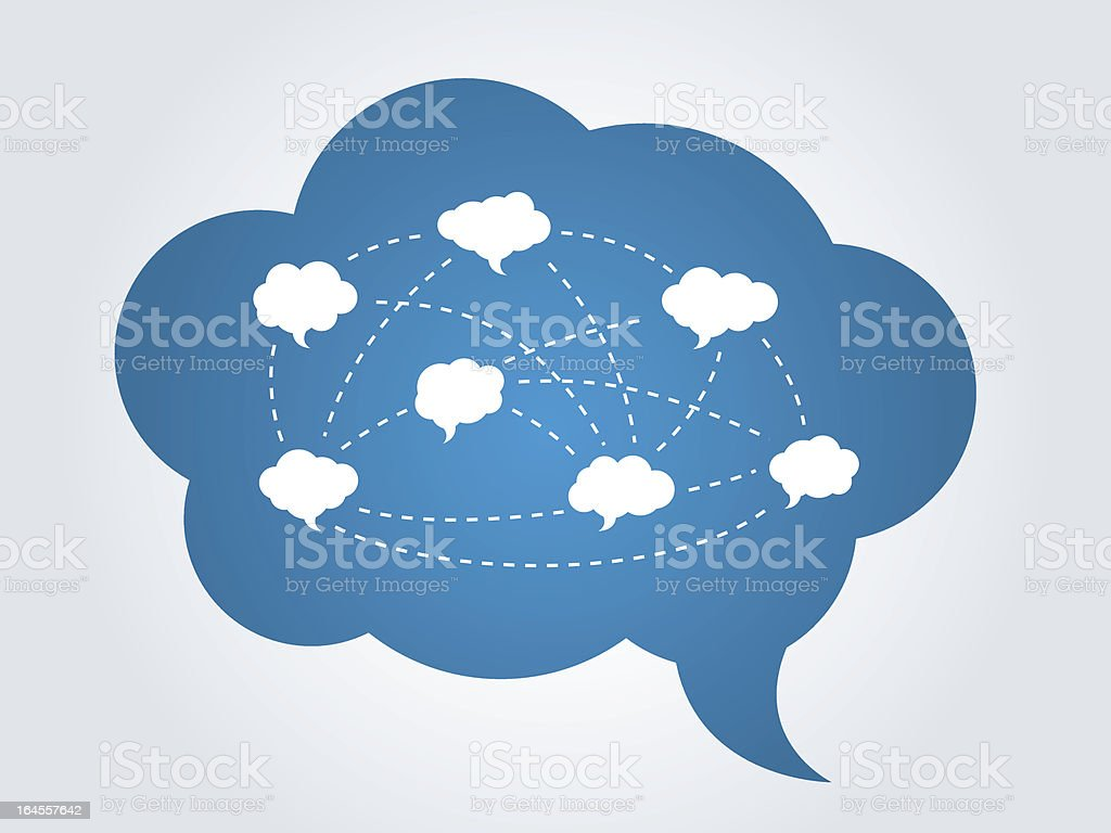 Cloud communication royalty-free cloud communication stock vector art & more images of blue