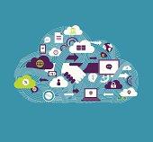 Vector illustration - Cloud Communication