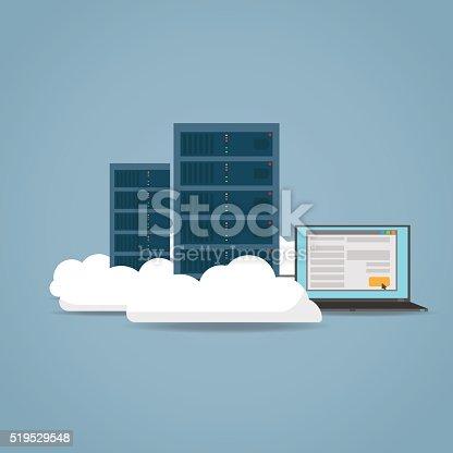 istock Cloud computer concept 519529548