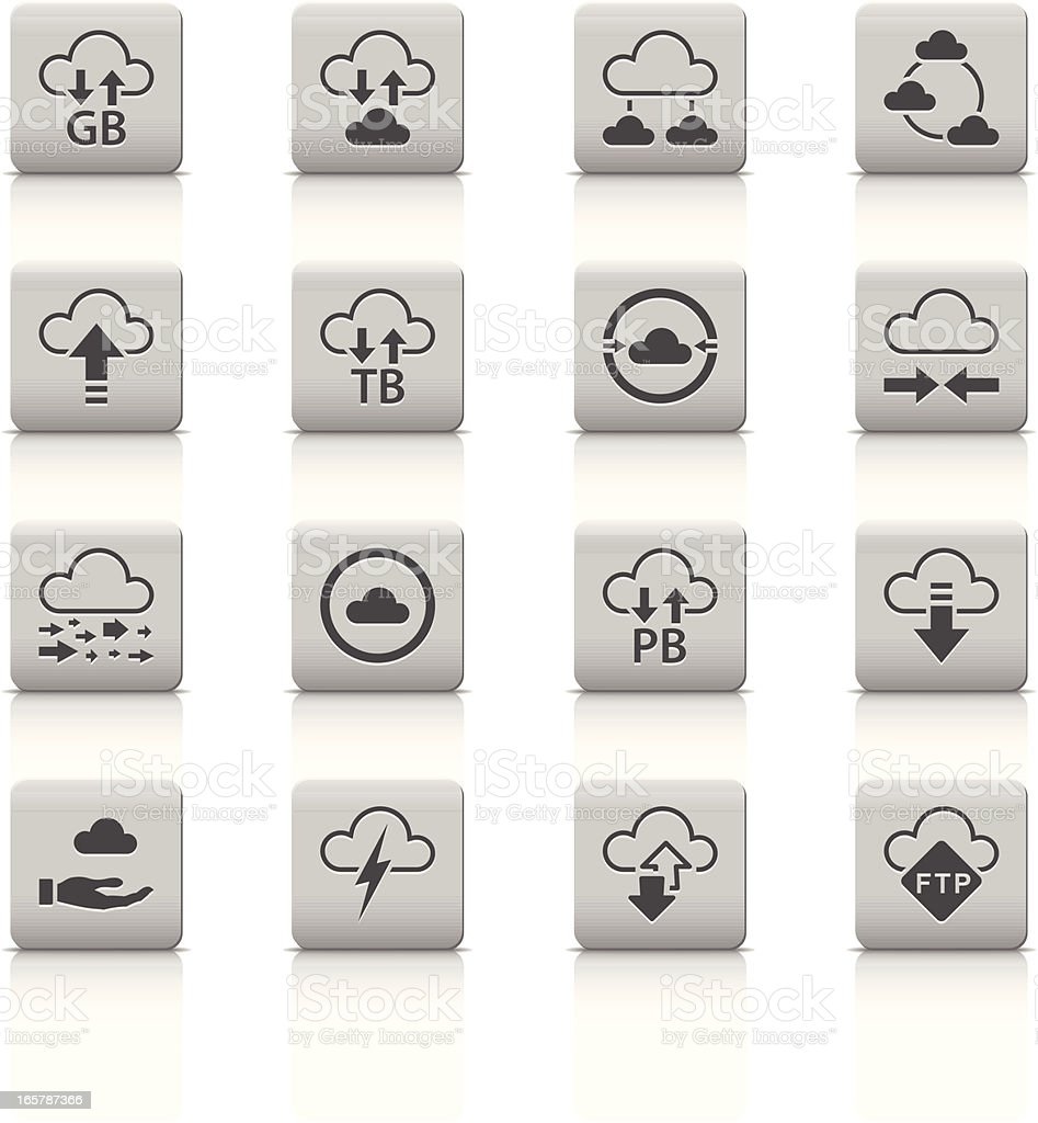 Cloud Computer icons royalty-free stock vector art