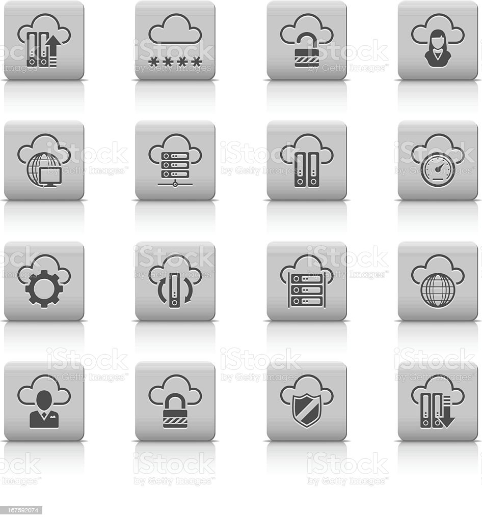Cloud Computer icons royalty-free cloud computer icons stock vector art & more images of administrator