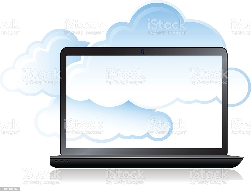Cloud Computing and Laptop computer royalty-free stock vector art