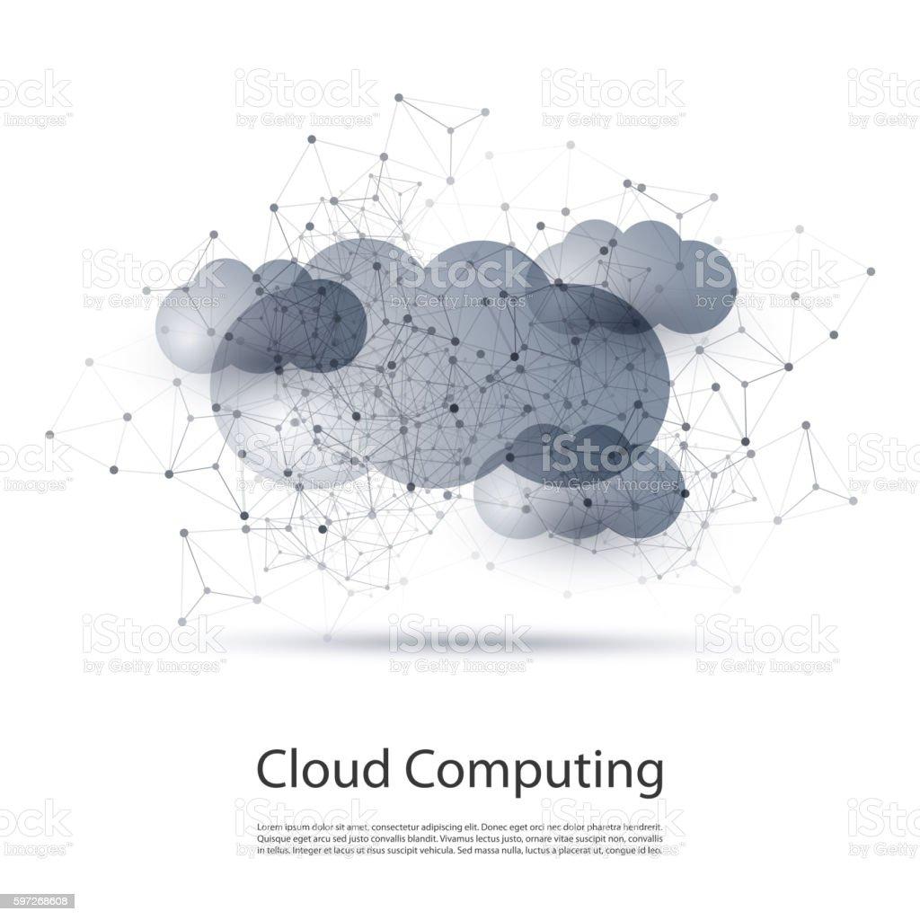 Nuage informatiques et réseaux Concept  nuage informatiques et réseaux concept – cliparts vectoriels et plus d'images de abstrait libre de droits