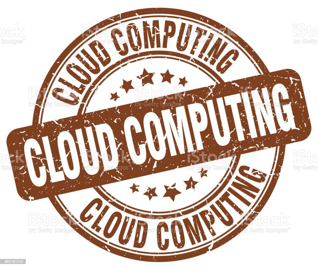cloud computing brown grunge stamp royalty-free cloud computing brown grunge stamp stock vector art & more images of badge