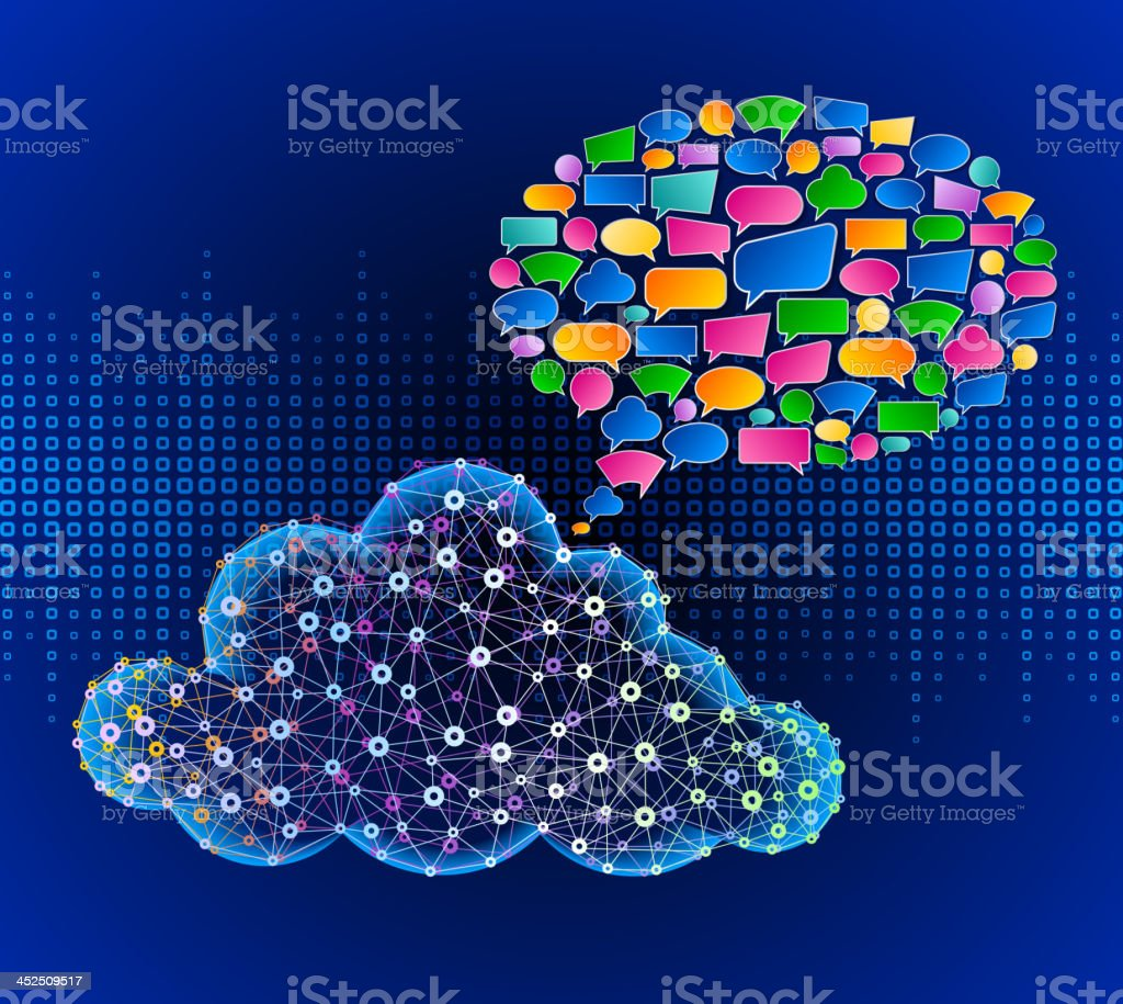 Cloud Computing Communication Technology royalty-free cloud computing communication technology stock vector art & more images of abstract