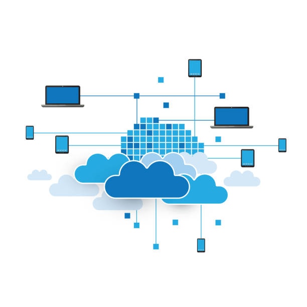 Cloud Computing Concept - Illustration for Your Business vector art illustration