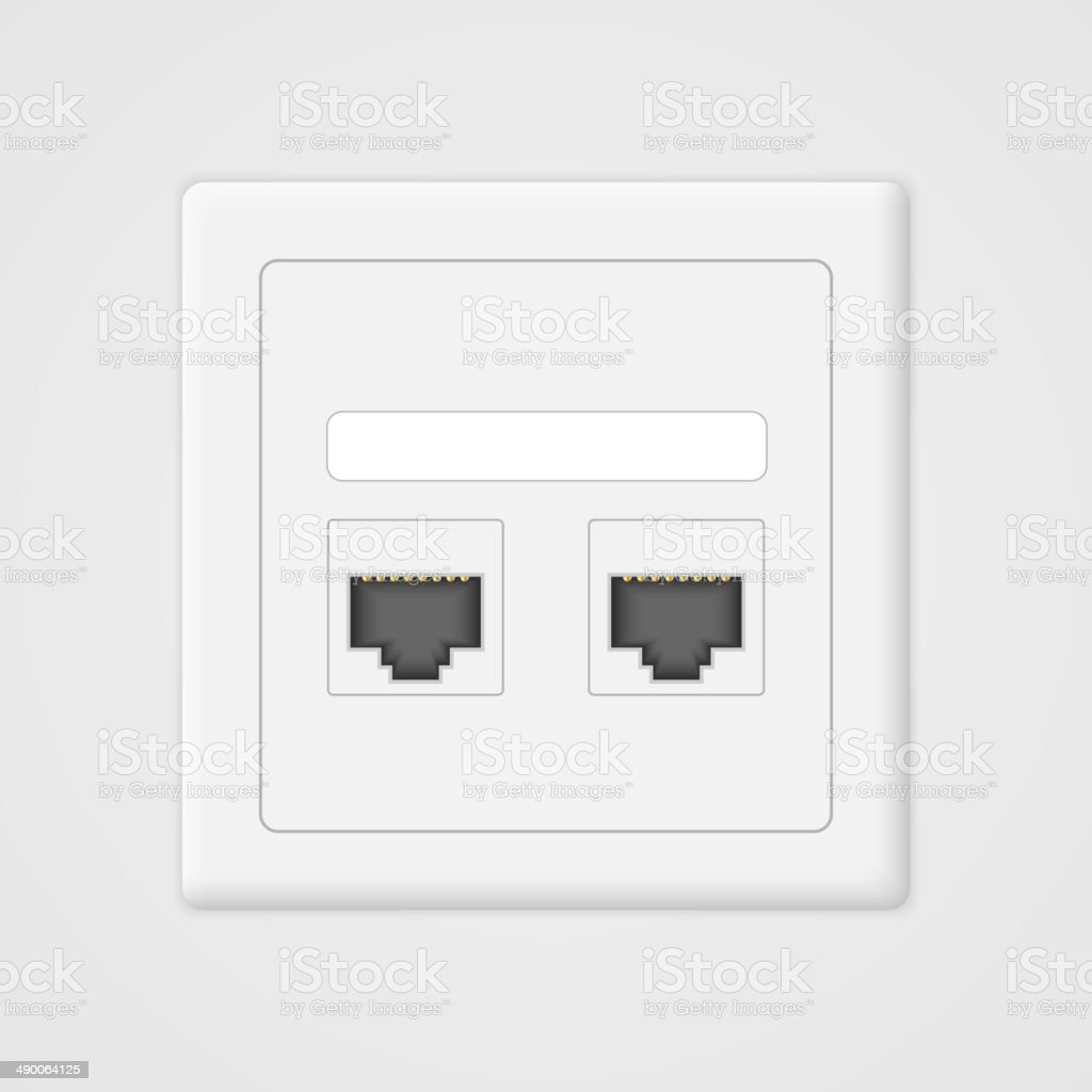 Cloud computing concept. Socket rj45. royalty-free cloud computing concept socket rj45 stock vector art & more images of advice