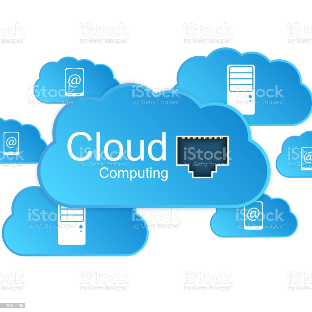 Cloud computing concept. royalty-free stock vector art