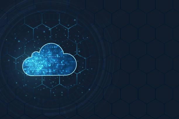 koncepcja przetwarzania w chmurze. abstrakcyjne tło technologii połączenia w chmurze. - chmura stock illustrations