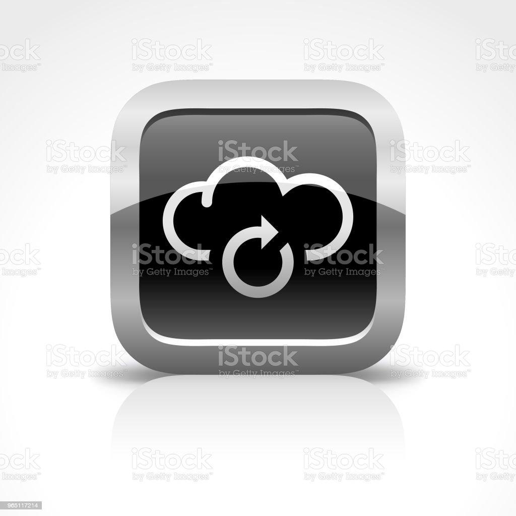 Cloud Computing Connection Glossy Button Icon cloud computing connection glossy button icon - stockowe grafiki wektorowe i więcej obrazów akta royalty-free
