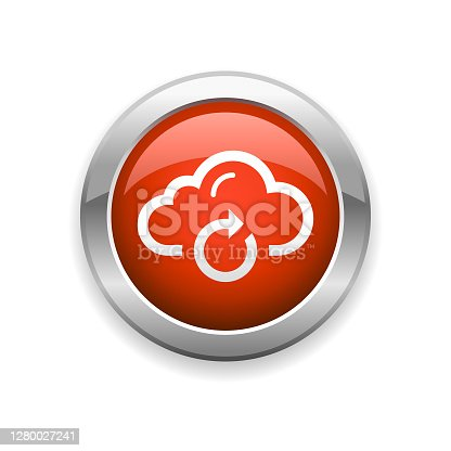 An illustration of cloud computing connection glossy icon for your web page, presentation, apps and design products. Vector format can be fully scalable & editable.