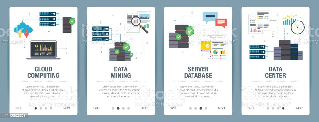 Cloud Computing Data Mining And Data Center Stock Illustration Download Image Now Istock