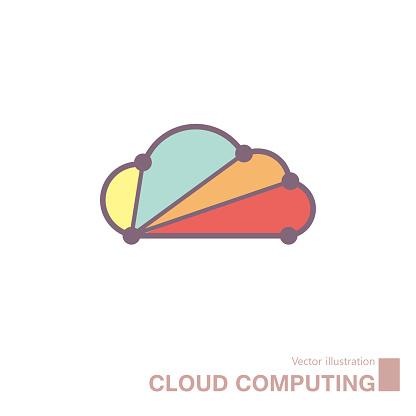 Cloud computing design,vector drawn cloud icon.