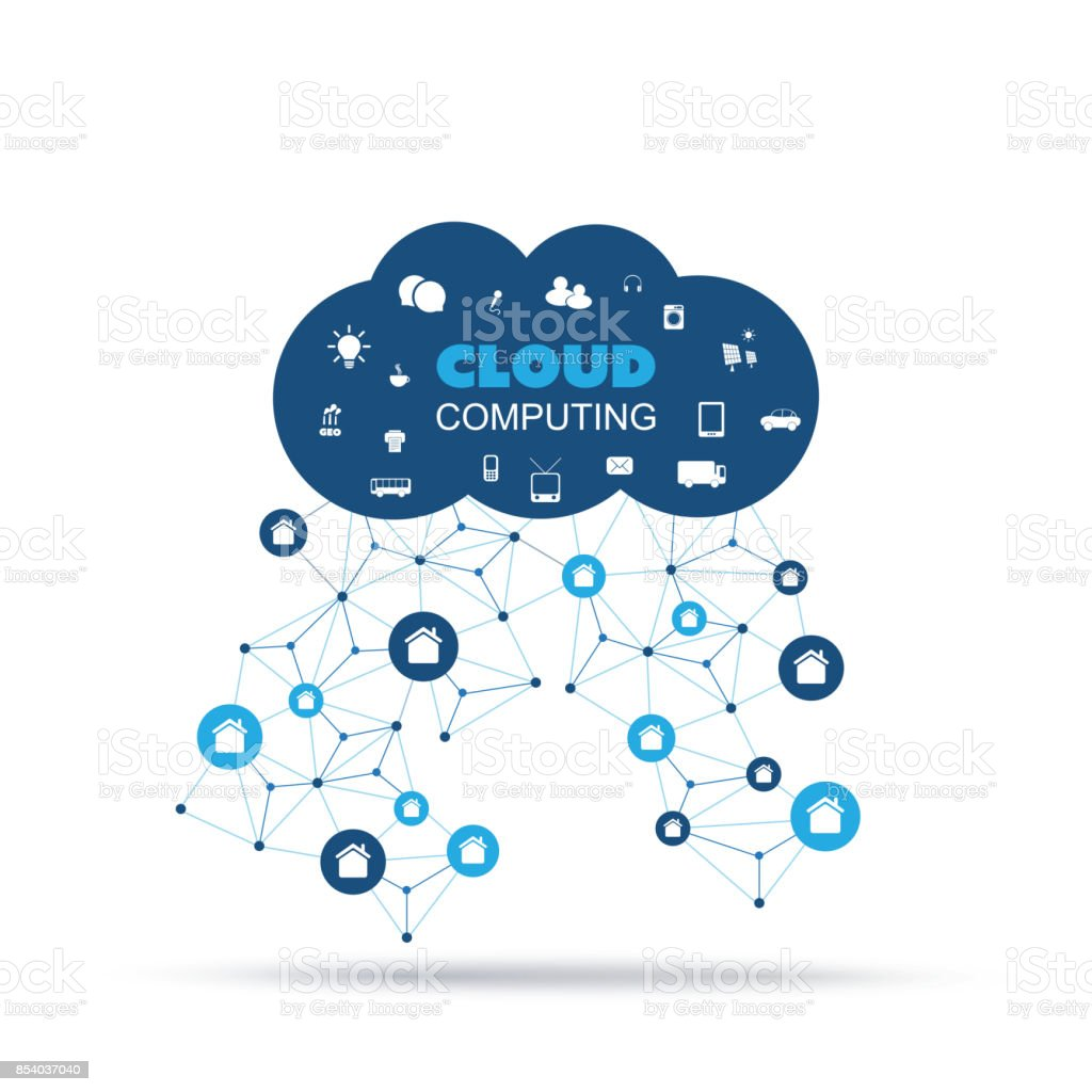 Cloud Computing Home Automation Internet Of Things Design Concept ...