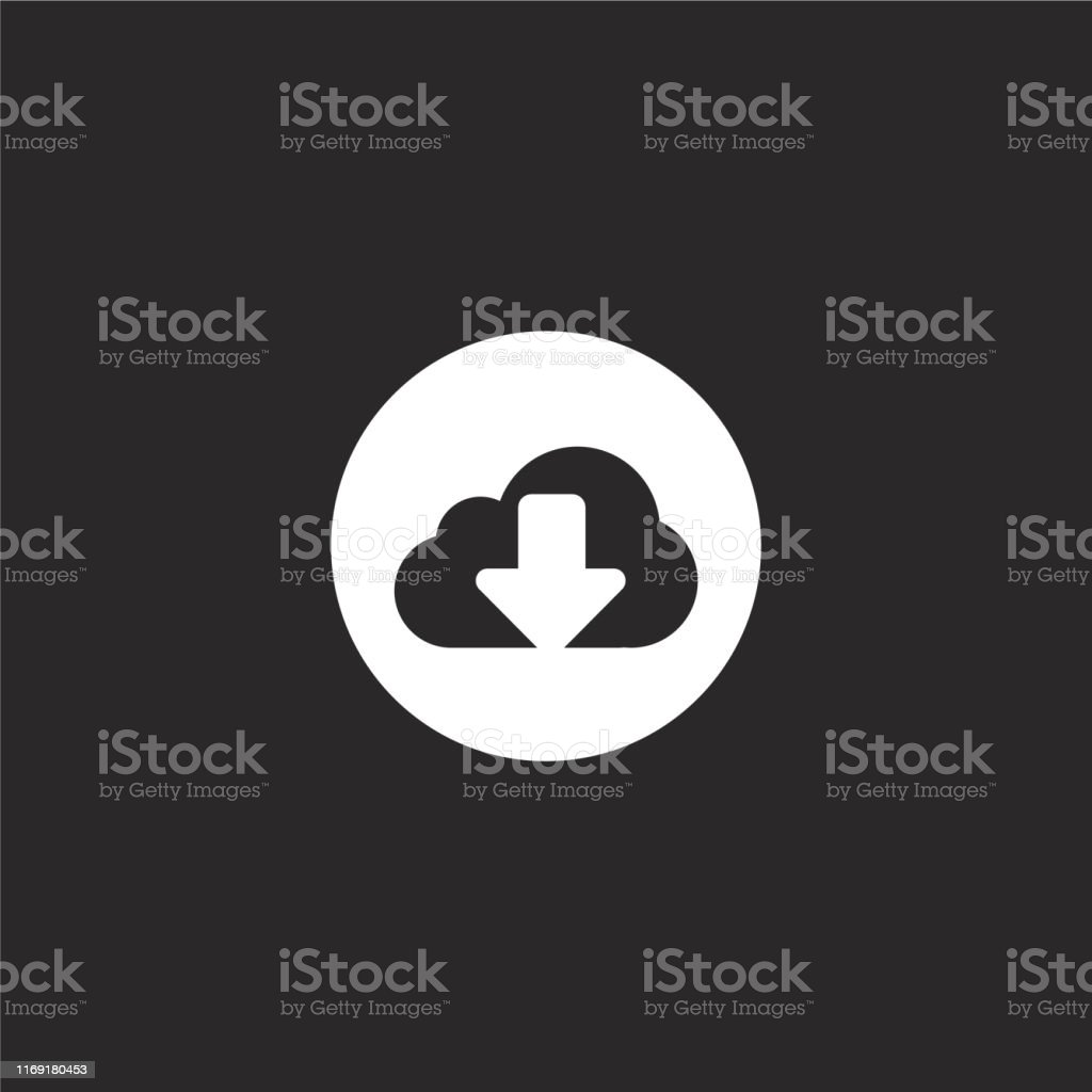 cloud computing icon. Filled cloud computing icon for website design...