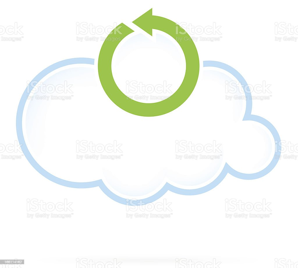 Cloud Computing Icon Reload royalty-free stock vector art