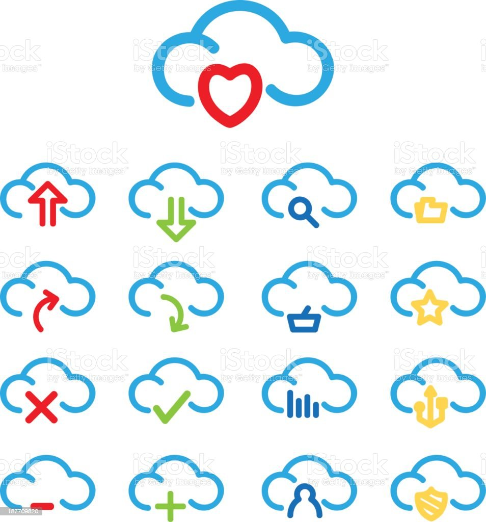 Cloud Computing Icon Set royalty-free stock vector art