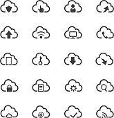 Cloud computing icon set