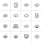 Cloud Computing Icons — Inky Series