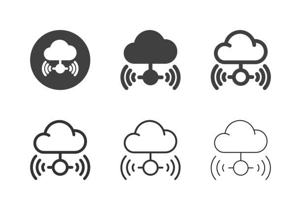 Cloud Computing Icons - Multi Series vector art illustration