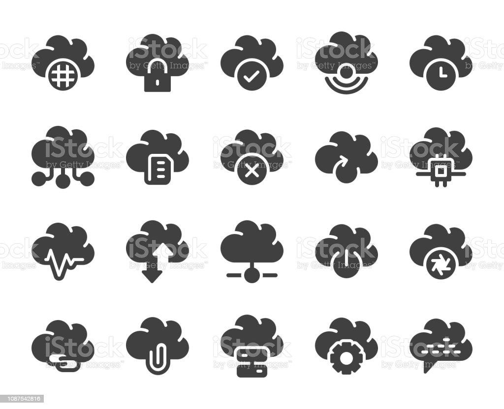 Cloud Computing - Icons vector art illustration