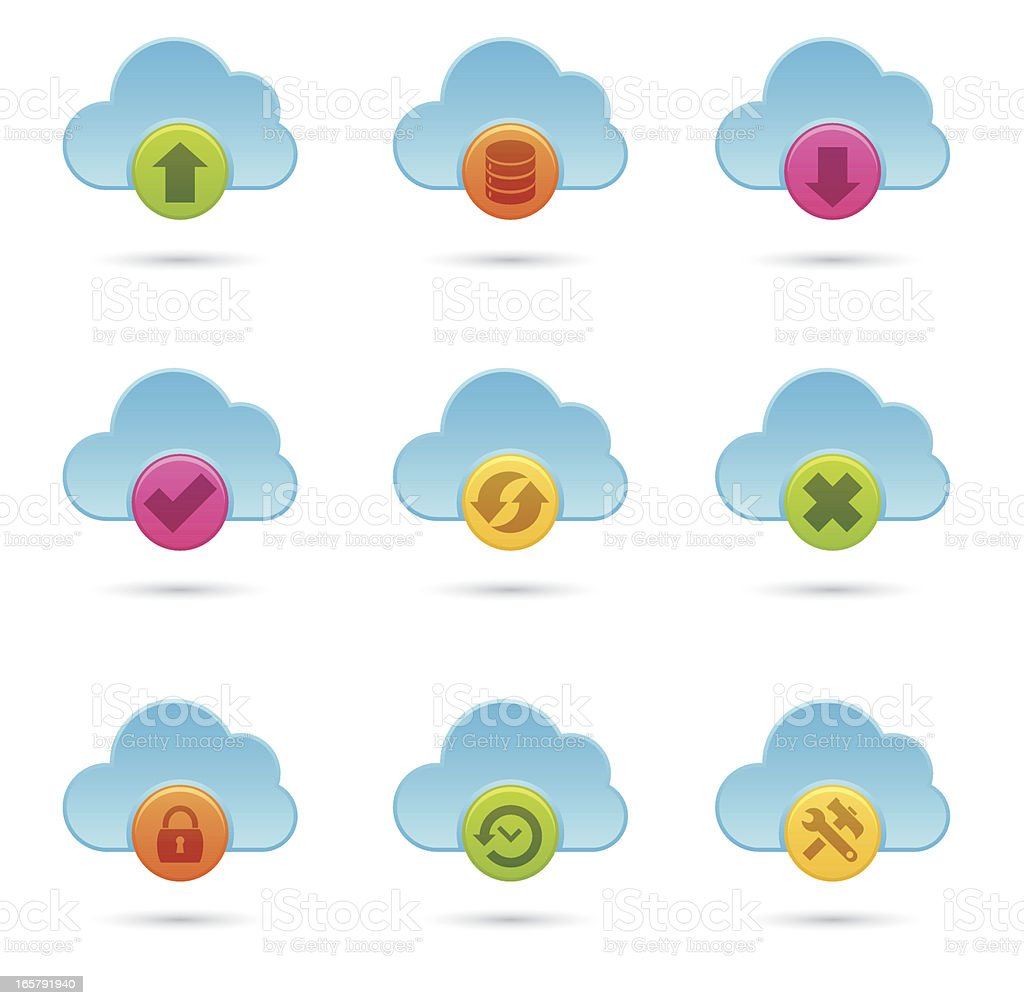 Cloud Computing Icons royalty-free cloud computing icons stock vector art & more images of cancellation